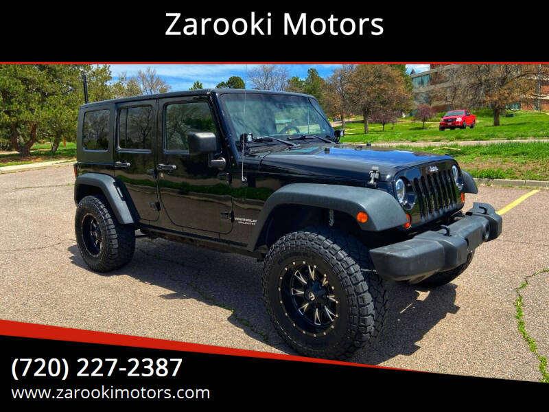 2010 Jeep Wrangler Unlimited for sale at Zarooki Motors in Englewood CO