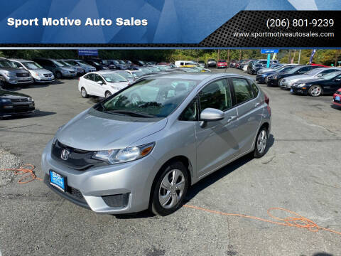 2015 Honda Fit for sale at Sport Motive Auto Sales in Seattle WA