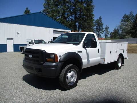 2006 Ford F550 Utility Bed 4X4 for sale at BJ'S COMMERCIAL TRUCKS in Spokane Valley WA