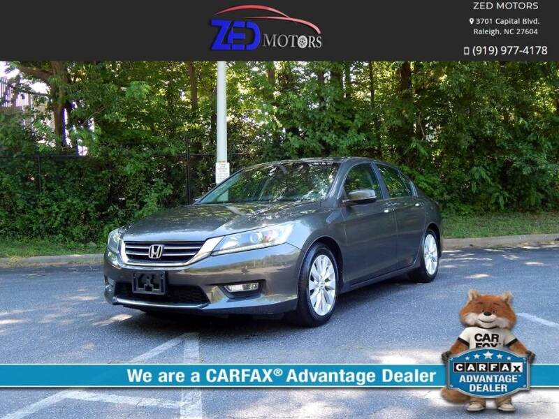 2013 Honda Accord for sale at Zed Motors in Raleigh NC