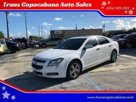 2012 Chevrolet Malibu for sale at Trans Copacabana Auto Sales in Hollywood FL