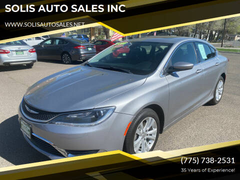 2016 Chrysler 200 for sale at SOLIS AUTO SALES INC in Elko NV