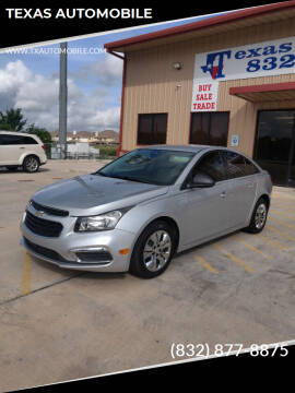 2015 Chevrolet Cruze for sale at TEXAS AUTOMOBILE in Houston TX