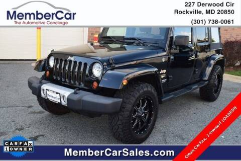 2012 Jeep Wrangler Unlimited for sale at MemberCar in Rockville MD