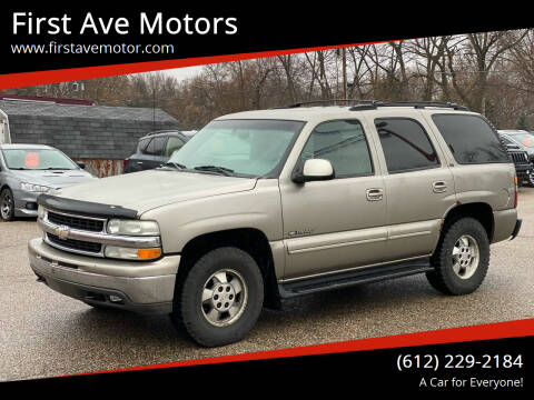 2001 Chevrolet Tahoe for sale at First Ave Motors in Shakopee MN