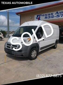 2014 RAM ProMaster Cargo for sale at TEXAS AUTOMOBILE in Houston TX