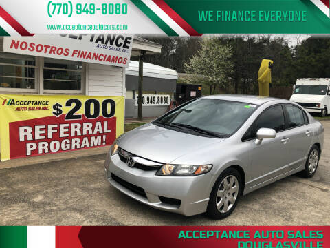 2011 Honda Civic for sale at Acceptance Auto Sales Douglasville in Douglasville GA