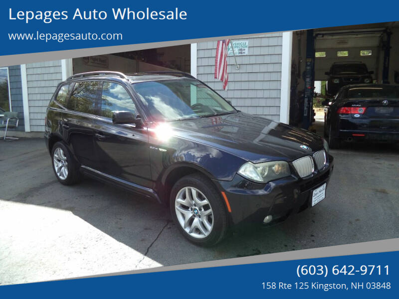 2007 BMW X3 for sale at Lepages Auto Wholesale in Kingston NH