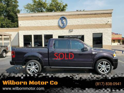 2007 Ford F-150 for sale at Wilborn Motor Co in Fort Worth TX