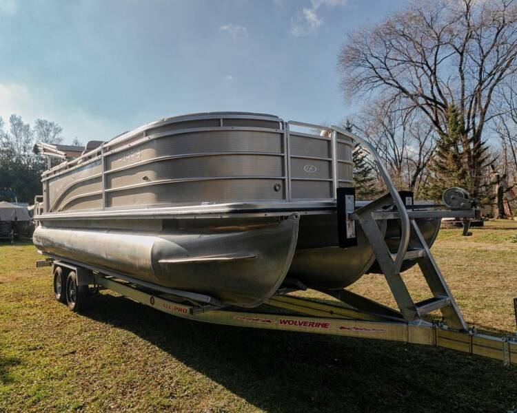2014 Harris FloteBote cruise 220 tritoon w/merc 115hp pontoon for sale at Waukeshas Best Used Cars in Waukesha WI