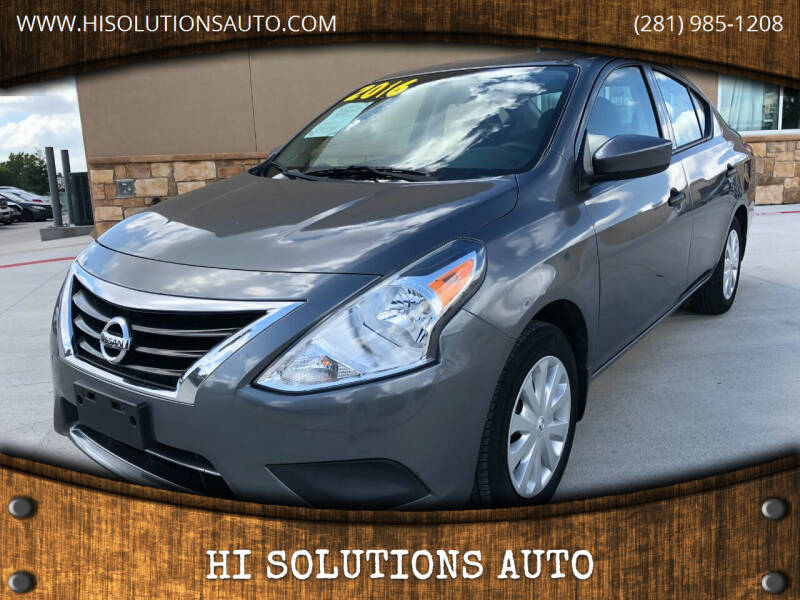 2016 Nissan Versa for sale at HI SOLUTIONS AUTO in Houston TX
