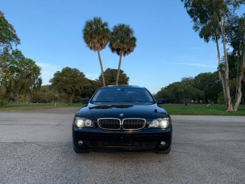 2007 BMW 7 Series for sale at FLORIDA MIDO MOTORS INC in Tampa FL