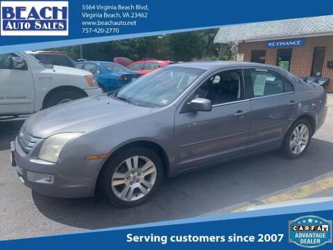 2006 Ford Fusion for sale at Beach Auto Sales in Virginia Beach VA