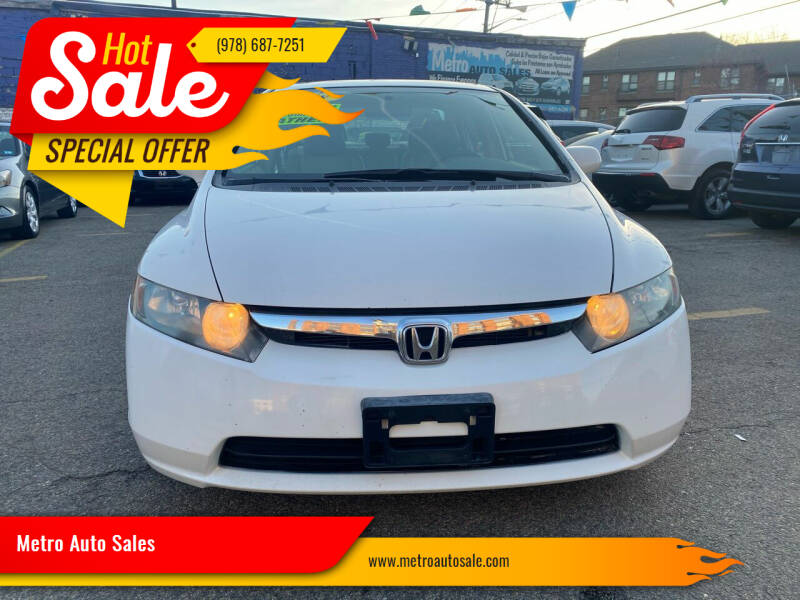 2008 Honda Civic for sale at Metro Auto Sales in Lawrence MA