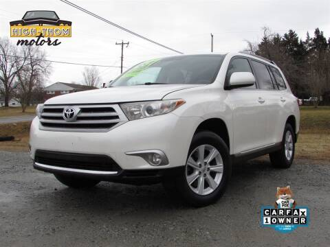 2013 Toyota Highlander for sale at High-Thom Motors in Thomasville NC