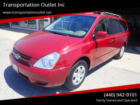 2007 Kia Sedona for sale at Transportation Outlet Inc in Eastlake OH