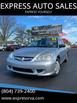 2005 Honda Civic for sale at EXPRESS AUTO SALES in Midlothian VA