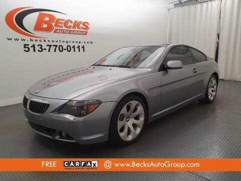 2007 BMW 6 Series for sale at Becks Auto Group in Mason OH