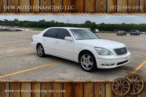 2005 Lexus LS 430 for sale at DFW AUTO FINANCING LLC in Dallas TX