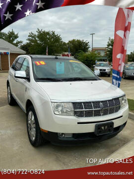 2010 Lincoln MKX for sale at Top Auto Sales in Petersburg VA