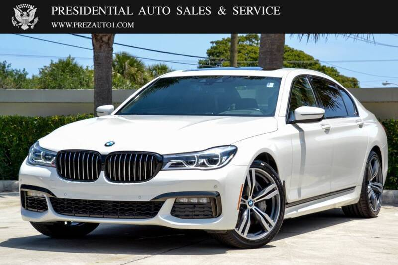 2019 BMW 7 Series for sale at Presidential Auto  Sales & Service in Delray Beach FL
