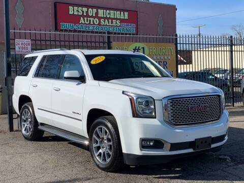 2015 GMC Yukon for sale at Best of Michigan Auto Sales in Detroit MI