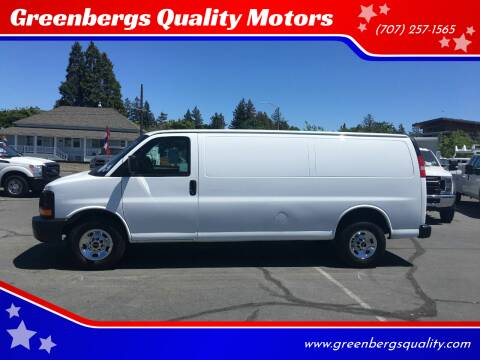 2014 GMC Savana Cargo for sale at Greenbergs Quality Motors in Napa CA