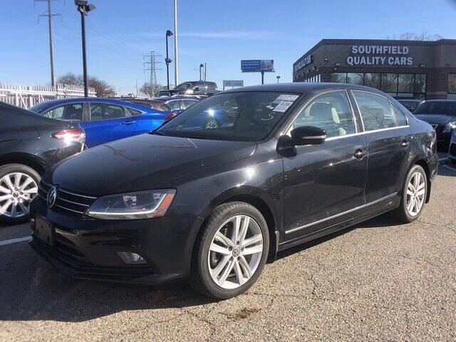 2017 Volkswagen Jetta for sale at SOUTHFIELD QUALITY CARS in Detroit MI
