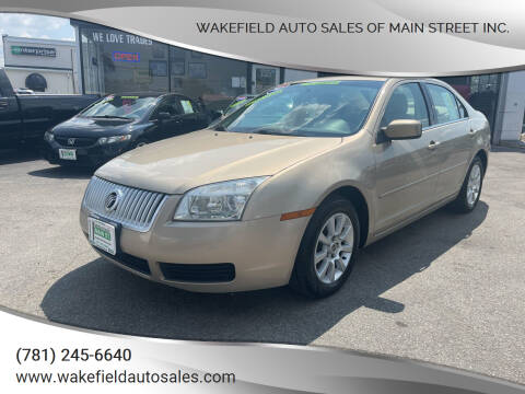 2007 Mercury Milan for sale at Wakefield Auto Sales of Main Street Inc. in Wakefield MA