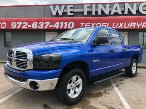 2008 Dodge Ram Pickup 1500 for sale at Texas Luxury Auto in Cedar Hill TX