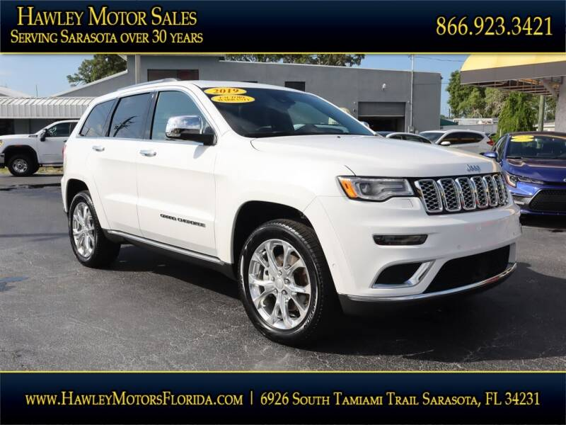 2019 Jeep Grand Cherokee for sale at Hawley Motor Sales in Sarasota FL