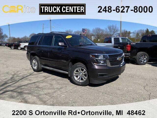 2015 Chevrolet Tahoe for sale at Carite Truck Center in Ortonville MI