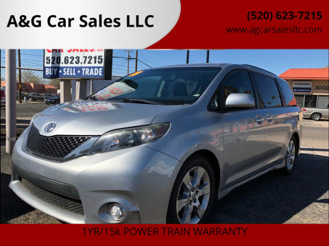 2013 Toyota Sienna for sale at A&G Car Sales  LLC in Tucson AZ