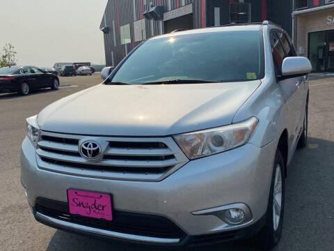 2012 Toyota Highlander for sale at Snyder Motors Inc in Bozeman MT