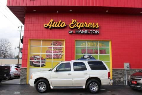 2003 Cadillac Escalade for sale at AUTO EXPRESS OF HAMILTON LLC in Hamilton OH
