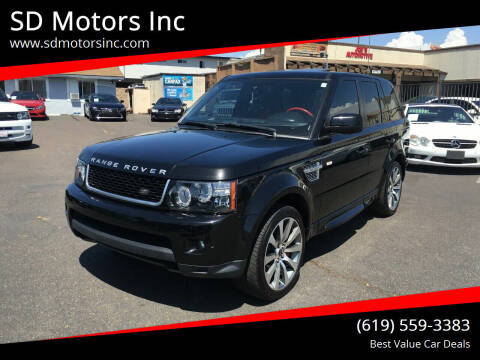 2013 Land Rover Range Rover Sport for sale at SD Motors Inc in La Mesa CA