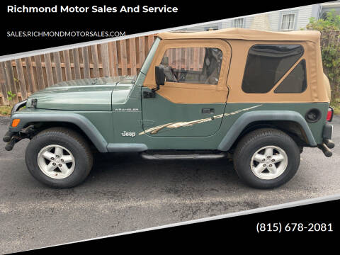 1999 Jeep Wrangler for sale at Richmond Motor Sales and Service in Richmond IL