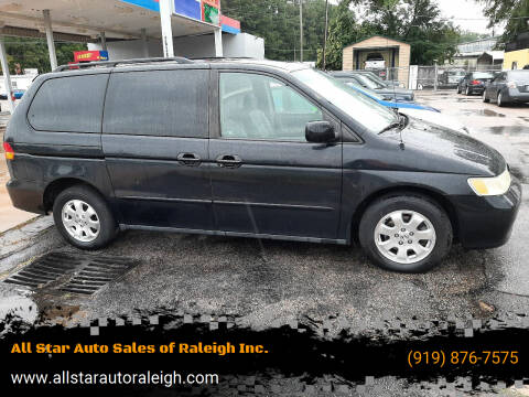 2003 Honda Odyssey for sale at All Star Auto Sales of Raleigh Inc. in Raleigh NC