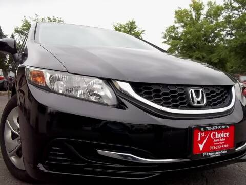 2013 Honda Civic for sale at 1st Choice Auto Sales in Fairfax VA