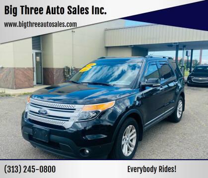 2015 Ford Explorer for sale at Big Three Auto Sales Inc. in Detroit MI