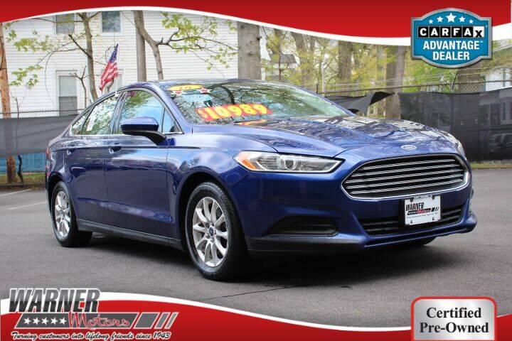 2016 Ford Fusion for sale at Warner Motors in East Orange NJ
