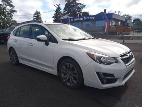 2015 Subaru Impreza for sale at All American Motors in Tacoma WA