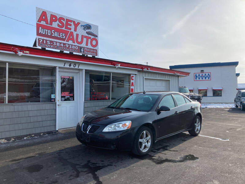 2009 Pontiac G6 for sale at Apsey Auto in Marshfield WI