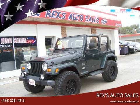 2004 Jeep Wrangler for sale at Rex's Auto Sales in Junction City KS