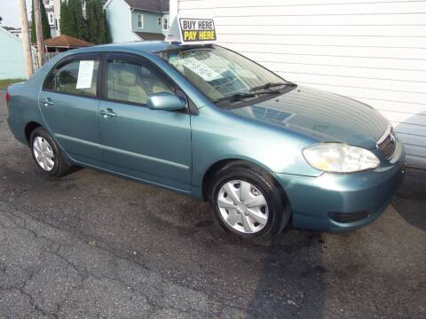 2007 Toyota Corolla for sale at Fulmer Auto Cycle Sales - Fulmer Auto Sales in Easton PA