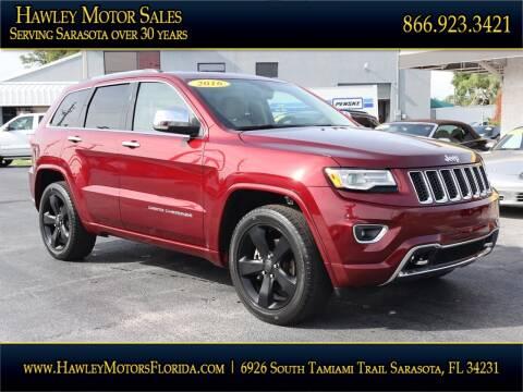 2016 Jeep Grand Cherokee for sale at Hawley Motor Sales in Sarasota FL