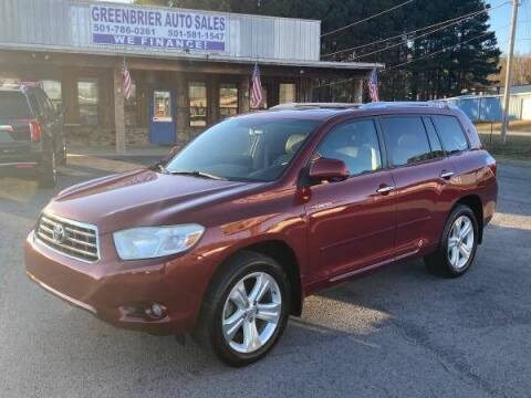 2010 Toyota Highlander for sale at Greenbrier Auto Sales in Greenbrier AR