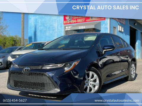 2020 Toyota Corolla for sale at Crystal Auto Sales Inc in Nashville TN