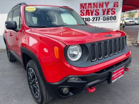 2016 Jeep Renegade for sale at Manny G Motors in San Antonio TX