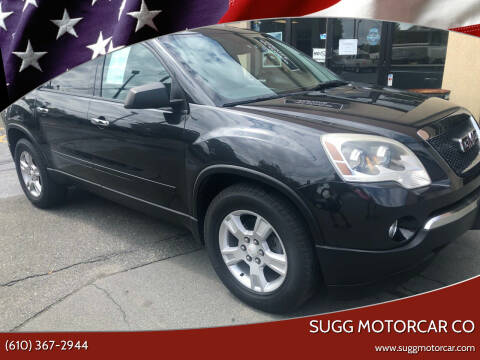 2011 GMC Acadia for sale at Sugg Motorcar Co in Boyertown PA